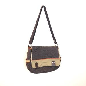FOSSIL KEY-PER Brown Satchel Shoulder Purse Bag